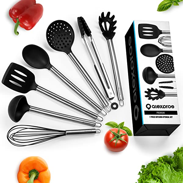 Amazon Com Kitchen Utensils Set Silicone Cooking Utensils Set