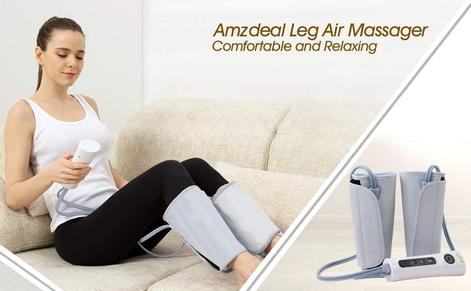 0cac61d98a Amazon.com: Amzdeal Leg Massager Air Compression Leg Wraps for Calf ...