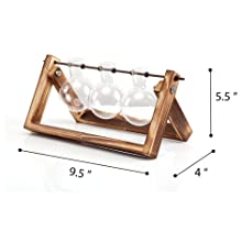 bulb planter  Ivolador Desktop Glass Planter Bulb Vase with Retro Solid Wooden Stand and Metal Swivel Holder for Hydroponics Plants Home Garden Wedding Decor (3 Bulb Vase) a5ba852b fc20 420f 8545 e7e133a0e5ee