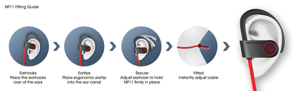 noot products np11 bluetooth earphones