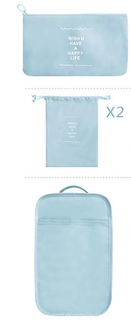 """8 Packing Cubes- Clothing Bag: Large (17.72"""" x 12.60"""" x 5.12""""), Medium (14.17"""" x 10.63"""" x 4.72""""), Small (11.81"""" x 8.66"""" x 3.94""""); Drawstring Bag:"""