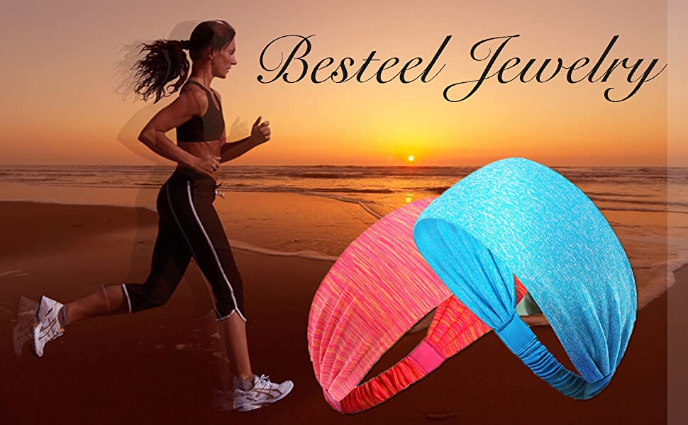 Dusk Headbands Mens Womens Youth Wide Stretch Sweat Proof Sports