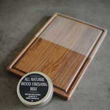 Cutting board arrives unfinished unseasoned season it yourself with all natural organic oil or wax