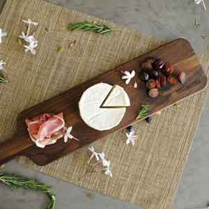 e24c4335ece81 Walnut Wood Cutting Board with Handle by Virginia Boys Kitchens - 4x20  American Hardwood Chopping and Serving Rustic Paddle for Baguette Bread  Cheese ...