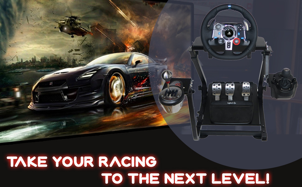 gt omega racing steering gaming wheel stand ultimate simulation console experience expert