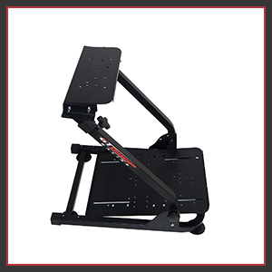 This racing wheel stand is durable & sturdy. heavy duty stable construction steel box tubing