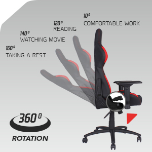 recliner high back angle adjustable ergonomic comfortable reading watching movie taking rest