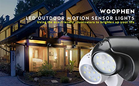 Woophen Indoor Bright Wireless Fulcrum Motion Sensor Led