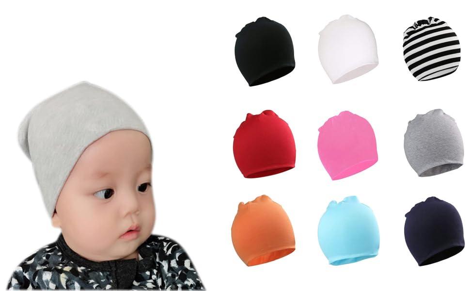 060080d57c5 Amazon.com  Bestjybt Baby Beanie Hats Newborn Infant Toddler Beanies ...