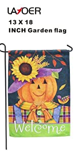 garden flag 12x18 inch pumpkin