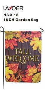 leaf fall garden flag
