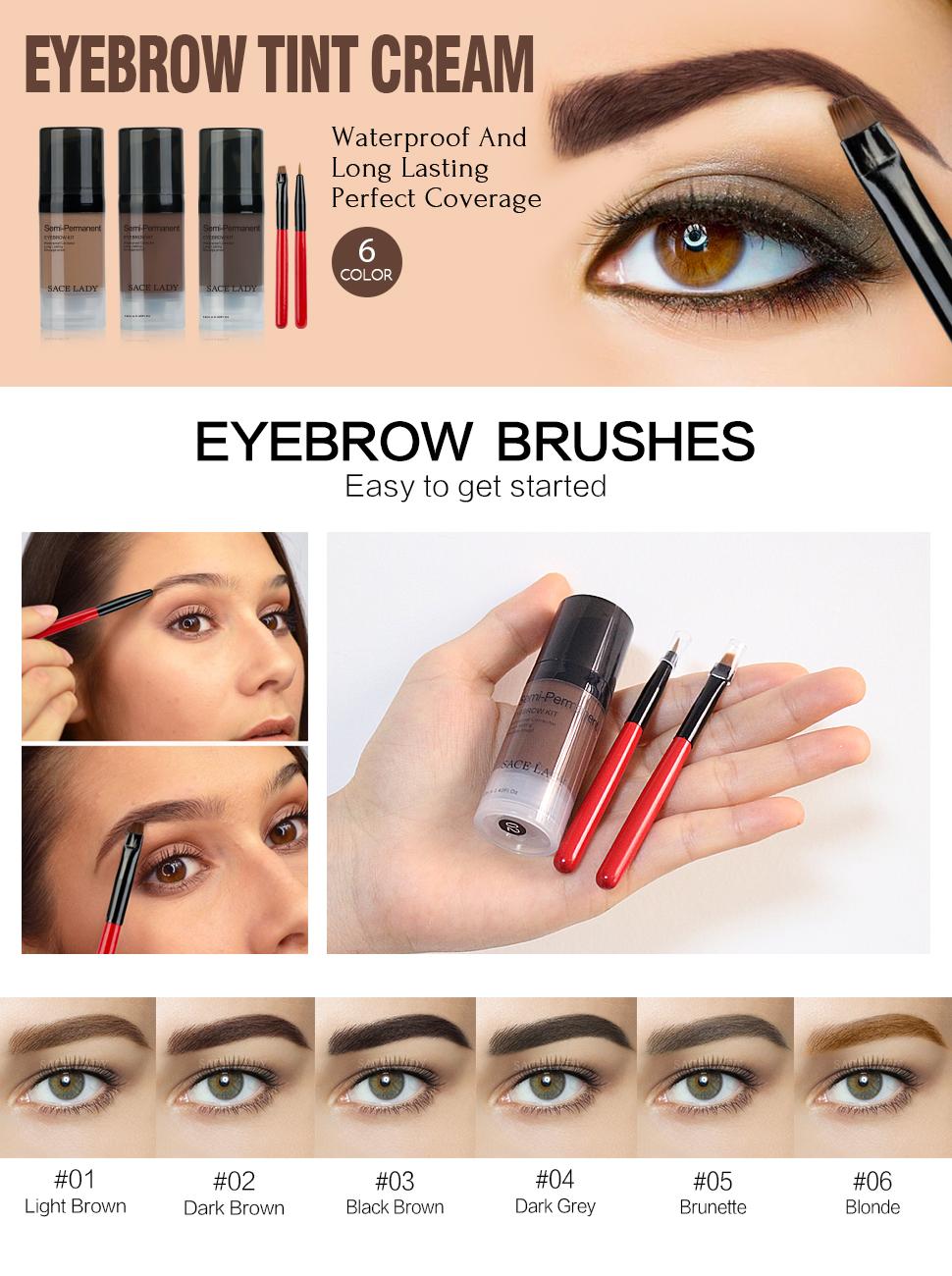 Amazon Sace Lady 3 Color Tinted Eyebrow Gel Long Lasting
