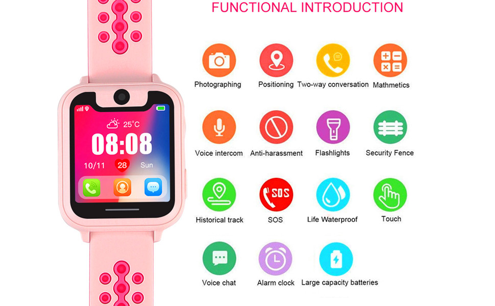 Kids Smart Watches with GPS Tracker