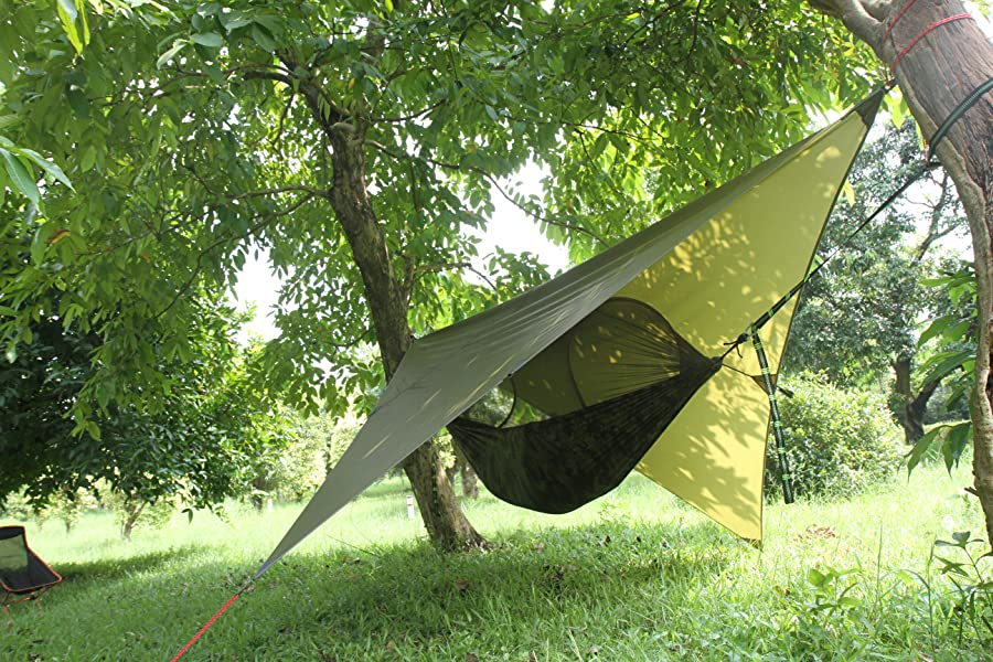 hammock shelter essential camping and survival gear  feature  material      amazon    eleoption portable lightweight waterproof survival      rh   amazon