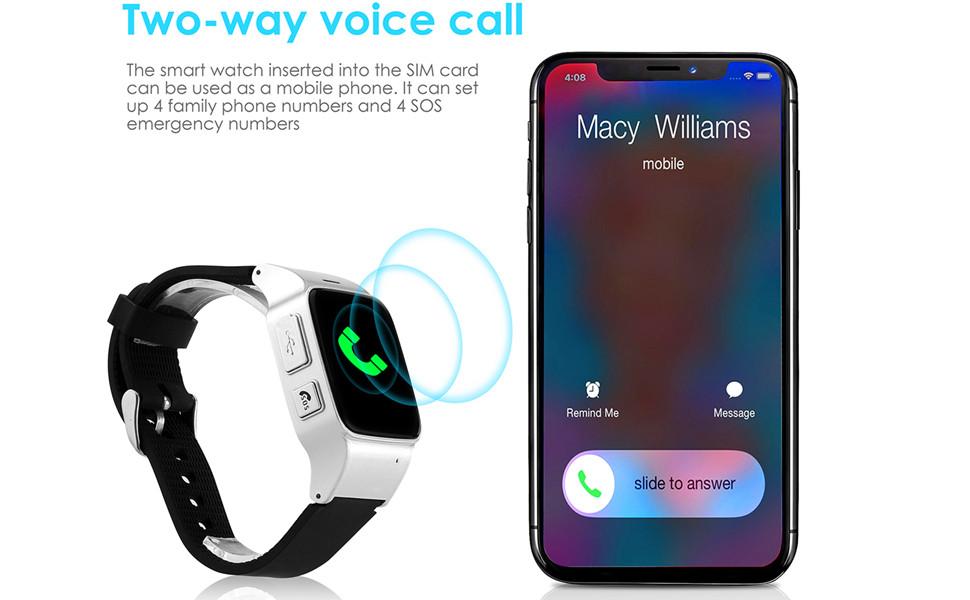 Amazon.com: WiFi Smart Watch Elderly GPS Tracker Phone Call ...