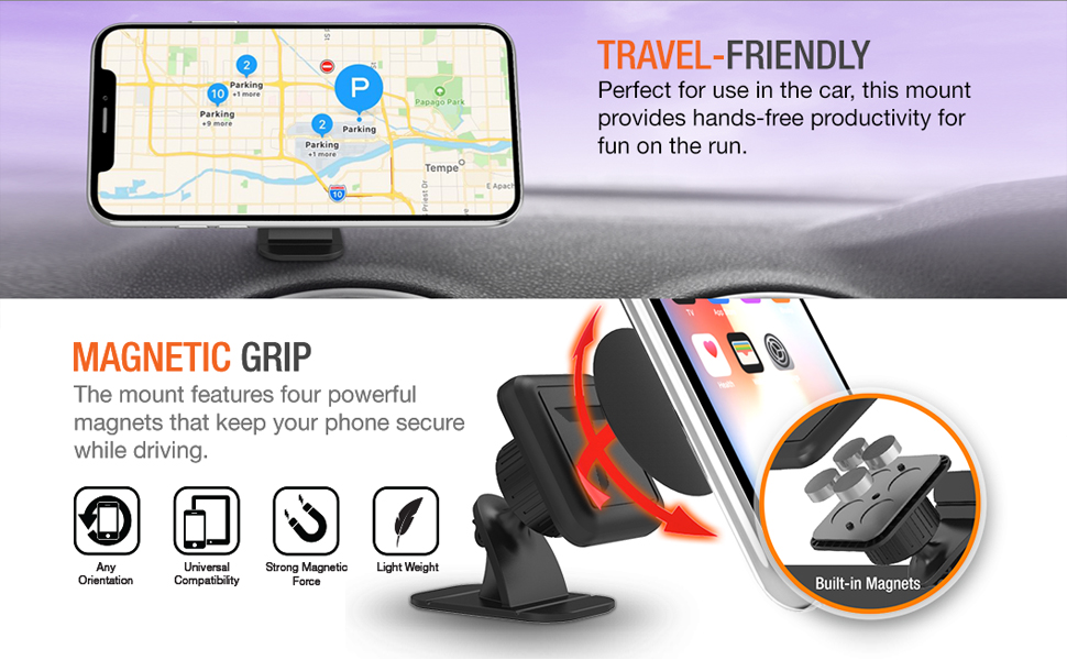 magnetic car phone mount holder for car phone in car phone holder magnetic stick jeep dashboard Magnetic Car Mount Holder /& Parking Number Plate for iPhone Samsung and all other phones Luxury Red