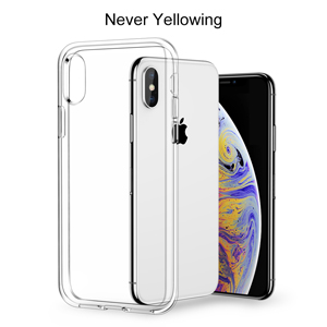 Meifigno Natural Series iPhone Xs Max Case [Certified Military Protection][Agile Button], Transparent Hard PC with Soft TPU Edges, Protective Clear ...