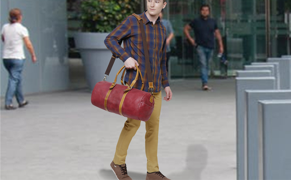 premium quality handmade Genuine Leather Travel Duffel GYM Bags carry on Men Women