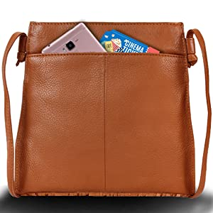Genuine Leather Crossbody Bags Cell Phone Purse Wallet For Women gift birthday anniversary Christmas