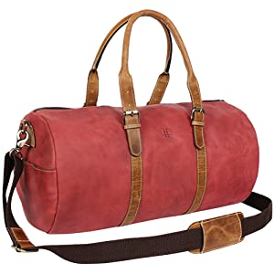 Multi-purpose leather duffel Bag suitable gym sports weekend indoor outdoor overnight carry on