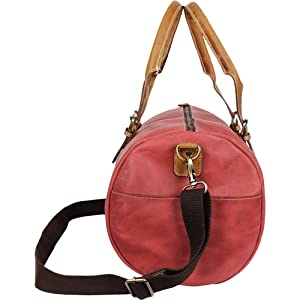 genuine leather duffel Bag suitable gym sports weekend travel business overnight carry on shoulder