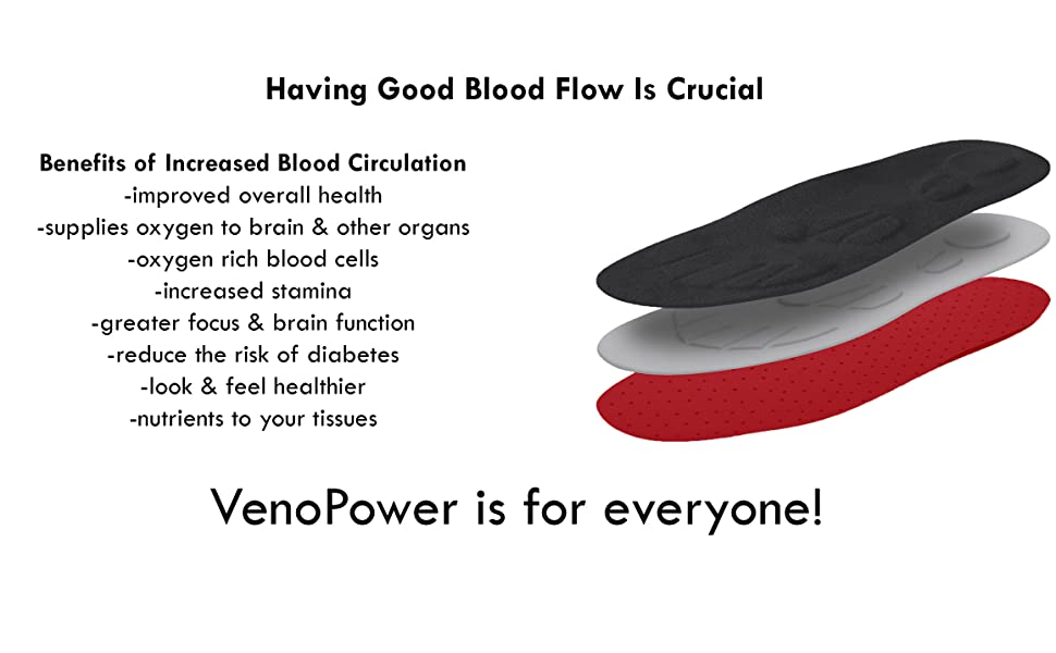 VenoPower, Blood Circulation, Benefits, Shoe Insole