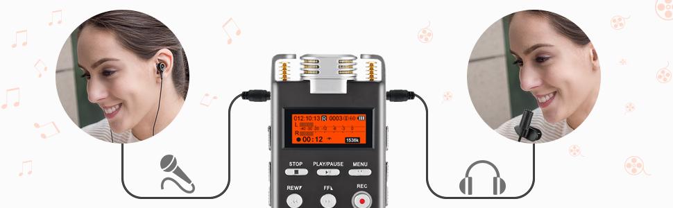 voice recorder line in