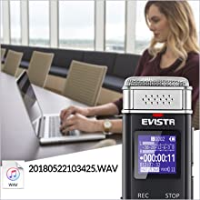 digital voice recorder time and date