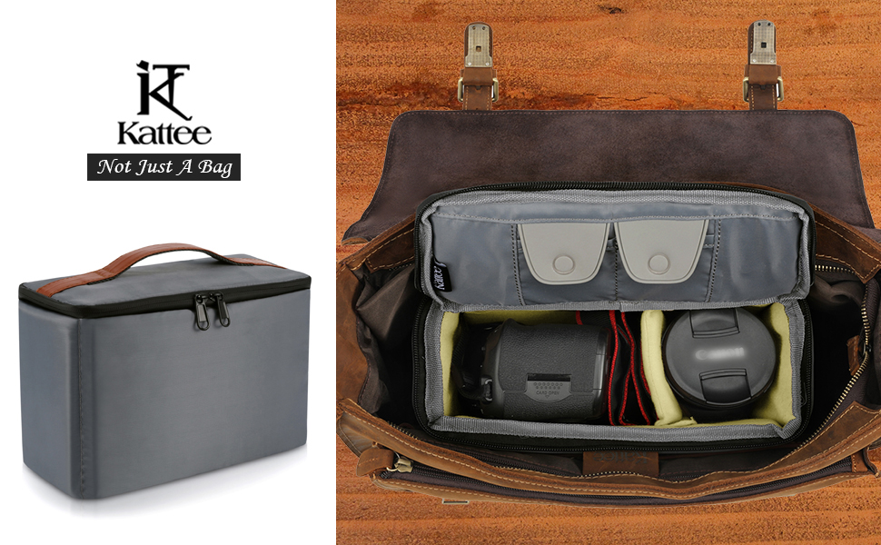 Amazon Com Kattee Camera Insert Bag Dslr Slr Padded Camera Case Water Resistant Shockproof For Travel Electronics