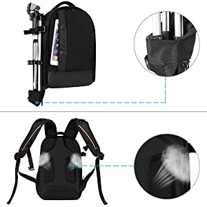 DSLR//SLR//Mirrorless Case Large Men//Women Photography Camera Bag with Laptop Compartment/&Tripod Holder/&Rain Cover Compatible with Canon//Nikon//Fuji//MacBook Space Gray MOSISO Camera Backpack 17.3 inch