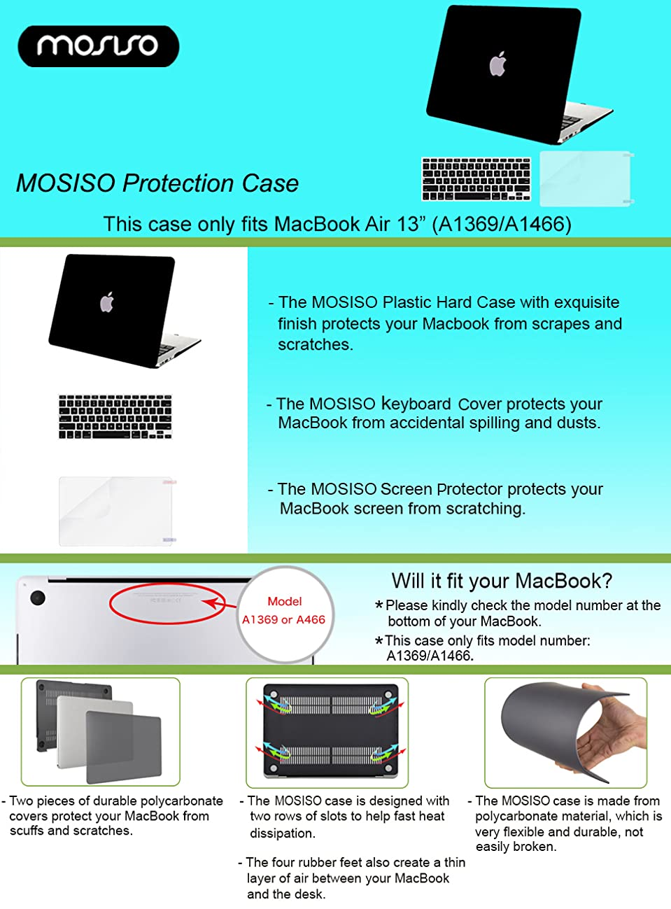 Amazon mosiso plastic hard case with keyboard cover with product description buycottarizona