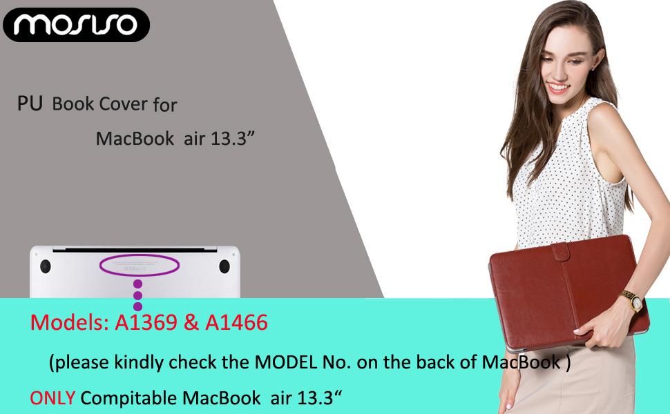 MacBook Air 13 PU Leather Case