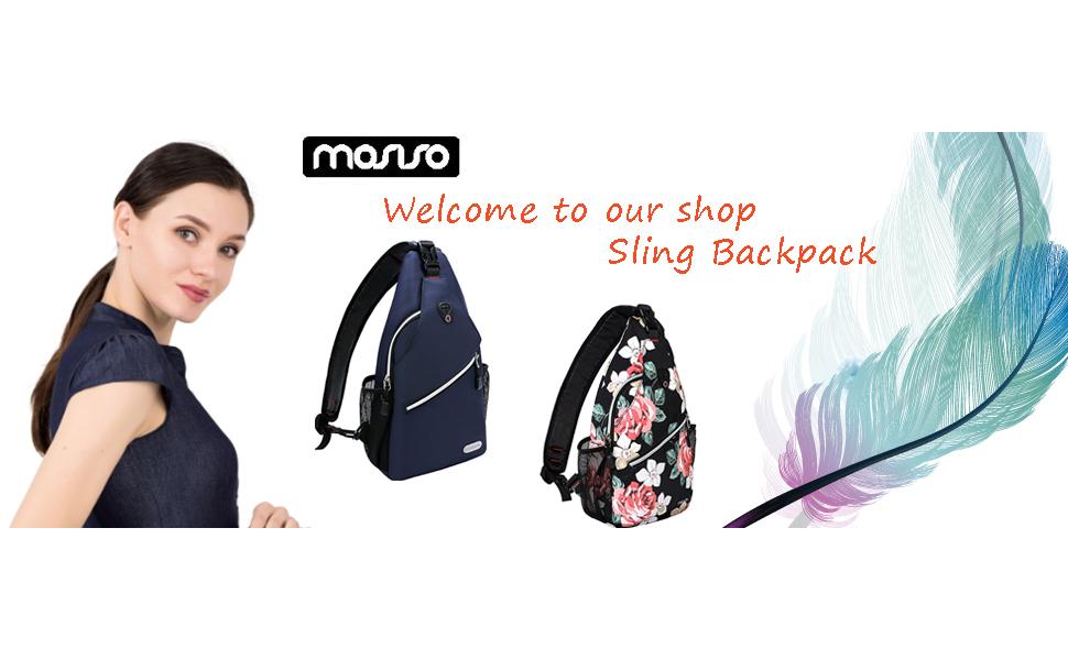 Mosiso Polyester Sling Backpack Crossbody Shoulder Bag for Men Women Girls Boys