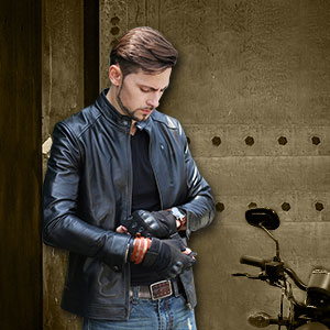 black moto leather jacket for mens rock outwear autumn winter spring lightweight