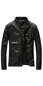 mens leather jacket lightweight