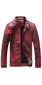 starlord leather jacket red