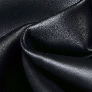 black faux leather textile