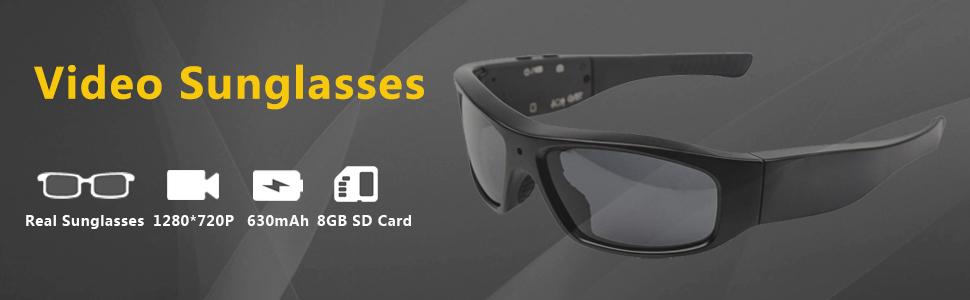 0e3e28b773 DATONTEN Sunglasses with Camera HD 720P Video Recording Glasses with 8GB SD  Card DT-M4