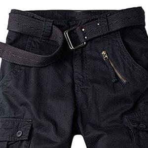 Mens cotton casual cargo pants
