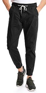 Men's Twill Chino Jogger Pants