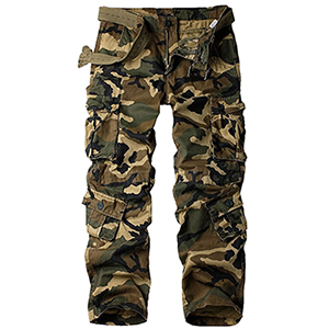 Mens military cargo pants with 8 pockets