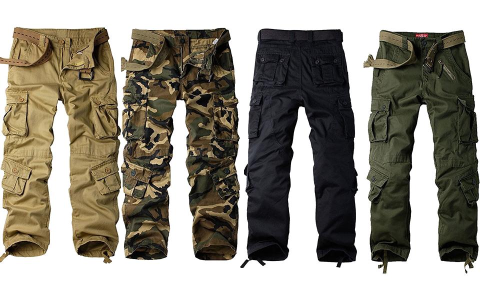 Mens military cargo pants