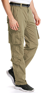 Men's Outdoor Quick Dry Water-Resistant UV Protection Hiking Cargo Pants