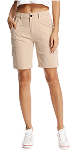 Women's Relaxed Fit Bermuda Cargo Shorts