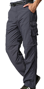 Men's Outdoor Quick Dry Zip off Cargon pants