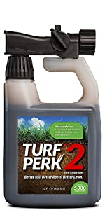 Turf Perk 2 Lawn Care Solution makes your grass roots stronger