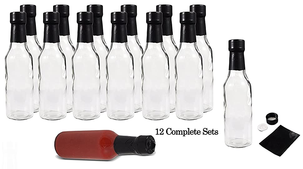 Amazon Com 5oz Empty Hot Sauce Woozy Bottles 12 Complete