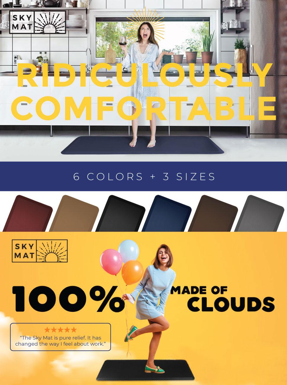 95757bda015fc Anti Fatigue Comfort Floor Mat By Sky Mats - Commercial Grade ...