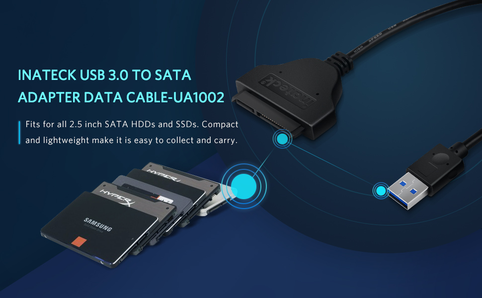 inateck usb 3.0 to sata adapter cable
