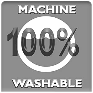 100% machine washable at any temperature!